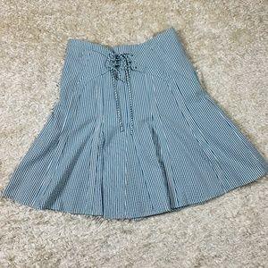 Anthropologie Viola NWT Size 8 Striped Skirt Blue